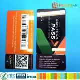 Карточка бирки верноподданности членского билета PVC VIP нестандартной конструкции с печатание barcode QR