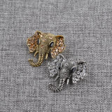 Retro Rhinestone-Elefant-Brosche-Tierbroschen für Mann-Frauen