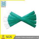 Wristband Tyvek логоса случая сплошного цвета изготовленный на заказ