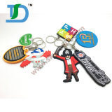 Fördernde Geschenke kundenspezifisches GummiKeychain, Belüftung-Schlüsselkette,