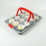 De Carrier van Cupcake in Plastiek met Non-Stick Pan van het Baksel