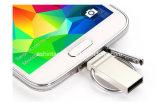 Mini mecanismo impulsor del flash del USB del teléfono del metal del USB Pendrive del Keyring