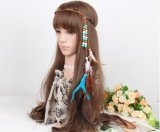 Venda de la Navidad del partido de la venda de la pluma del pavo real de los accesorios del pelo