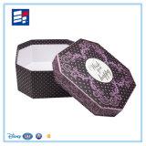 Caixa de presente Handmade do estilo do círculo de papel com impressão personalizada do logotipo