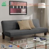 Sofá de couro confortável agradável simples ajustado para a sala de visitas, projeto ajustado do sofá de madeira ergonómico do projeto
