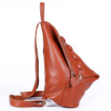 Sac à dos de hausse extérieur de sac d'école de course de sac à dos de loisirs de cuir véritable