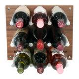 Cremalheiras de indicador do vinho do carrinho do vinho do metal da cremalheira do vinho da parede
