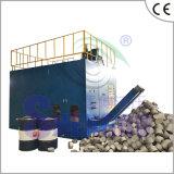 Imprensa de ladrilhagem de alumínio horizontal automática da serragem (CE)