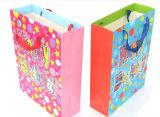 Bolso del regalo del papel de feliz cumpleaños con la impresión de encargo