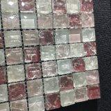赤い氷の割れたガラスモザイク・タイル
