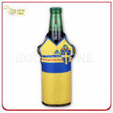 Supporto tozzo stampato neoprene superiore della bottiglia da birra con la chiusura lampo