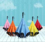 Двухцелевой зонтик для двойного автомобиля дела цели с обратной личностью и прямо длинней ручки для творческого автомобиля