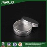 balsamo di alluminio d'argento della crema/orlo di cura di pelle dello stagno 25g/vaso di alluminio dell'imballaggio cera dei capelli con il coperchio della vite