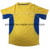 Sportswear curto da luva para a juventude com tela clara do bloqueio e de engranzamento
