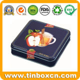 Квадратный контейнер олова еды, коробка олова металла