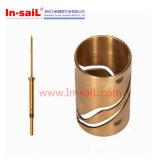 Peças de giro do CNC do bronze liso lustroso da alta qualidade