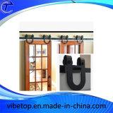 Vidrio de madera del precio bajo que resbala el hardware de la puerta de granero
