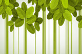 安い価格の販売の緑はホーム装飾の絵画のためのパターンデザインを残す