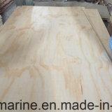 La madera contrachapada del pino de la alta calidad 1220*2440m m hace el material de la decoración