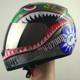 点の証明書が付いているオートバイの安全ヘルメット
