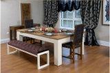 2 em 1 tabela de associação da madeira contínua do jantar