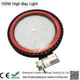 Luz elevada ao ar livre do louro do diodo emissor de luz do UFO de IP65 Ce&RoHS 100W 130lm/W