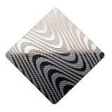 Hoja de acero inoxidable en frío grabada modelo del lino del precio competitivo ASTM 304 para el panel de la decoración de la puerta del contador de comprobación de la cocina