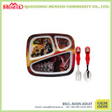 Servicio de mesa irrompible seguro de la melamina del diseño del uso lindo de los cabritos