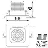 vertiefte LED unten Innendeckenleuchte der PFEILER 10W Qualitäts-AC85-265V