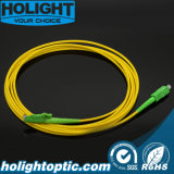 Fiber Optic Patchcord Sca to E2000A Sx Sm 3.0mm Yellow