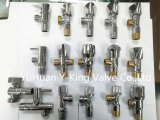 Válvula de ângulo de bronze forjada com punho de bronze (YD-5019)