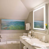 Frameless Sandblast Illuminated Bathroom Backlit LED Light Wall Mirror
