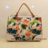 Sacchetto d'avanguardia della signora Handbag Fashion Style PU Hand del cuoio di stampa di Plower (LY05044)