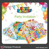 Invitación de papel del partido con la impresión hermosa