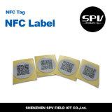 Papel revestido ISO14443A de la etiqueta engomada Ntag203 del teléfono del Hf de Nfc