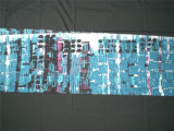 Sergé estampé de coton en soie dans la configuration abstraite