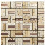 Плитка мозаики нержавеющей стали естественной мозаики мрамора нефрита смешанная (FYSM013)