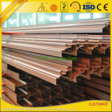 Foshan-Aluminiumstrangpresßling-Fabrik, die hölzernes Aluminiumstrangpresßling-Profil liefert