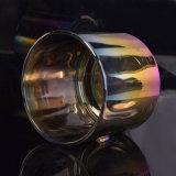 빛나는 색깔을%s 가진 전기도금을 하는 촛대 유리