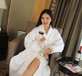 Peignoir/pyjama/chemises de nuit du coton des adultes d'hôtel d'Élevé-Étoile