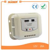 Regolatore della carica del comitato solare di Suoer 20A 12V 24V PWM (ST-G1220)
