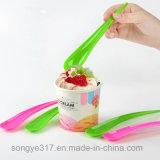 Ложка пластмассы десерта PS цветастая