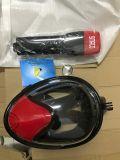 Red+Black volles Gesichtsnorkel-Schablone mit Gopro Kamera-Montierung Dropshipping Soem nach Maß
