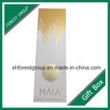 Caixa de presente de Coardboard para o vinho que empacota com folha de ouro Stampping