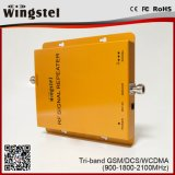 2017 Hot Sale GSM / Dcs / WCDMA 2g 3G 4G Amplificateur Tri Band avec Antenne