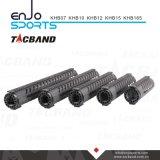 Fibra Keymod compuesto (CFC) del carbón flotador libre del carril de Handguard de 7 pulgadas con negro superior del carril de Picatinny