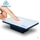 저희 118 Dimmable 가벼운 벽 접촉 스위치를 위한 백색 수정같은 유리 위원회 12V 제광기 스위치