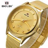 Disegno di stile di affari di Belbi per l'orologio dell'acciaio degli uomini