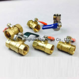 Válvula de cobre amarillo de la válvula de gas mini