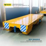 Elektrisches Industrie-Materialtransport-Fahrzeug, das Schienen weitergeht